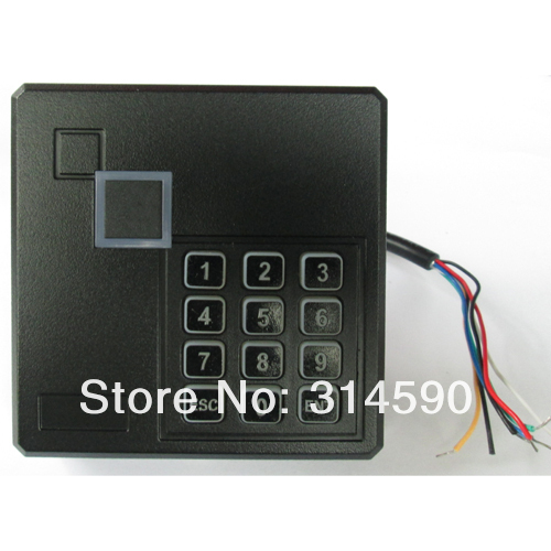 Door Black ID Wiegand 26 RFID Card Reader /  Rfid Proximity Card Reader  With Keypad