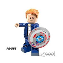 1PCS model building blocks action figures superheroes Casual Dress Captain America justice league kit diy toys for children gift(China)