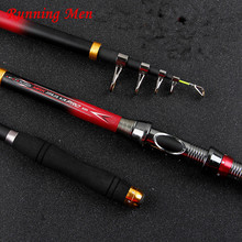 Spinning Carbon Telescopic Fishing Rod All Metal Accessories2.1M-3.6M Saltwater Superhard Carbon Telescopic Spinning Fishing Rod