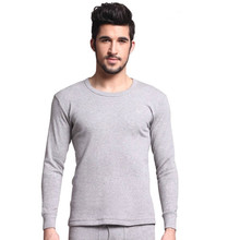 Men cotton sweater 100% skinny cotton underwear set o-neck long-sleeve shirt thermal lengthy johns