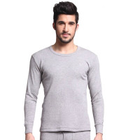 Autumn and Winter Men Sweater 100% Cotton middle thick underwear set o neck long sleeve shirt thermal long johns Pijamas08001