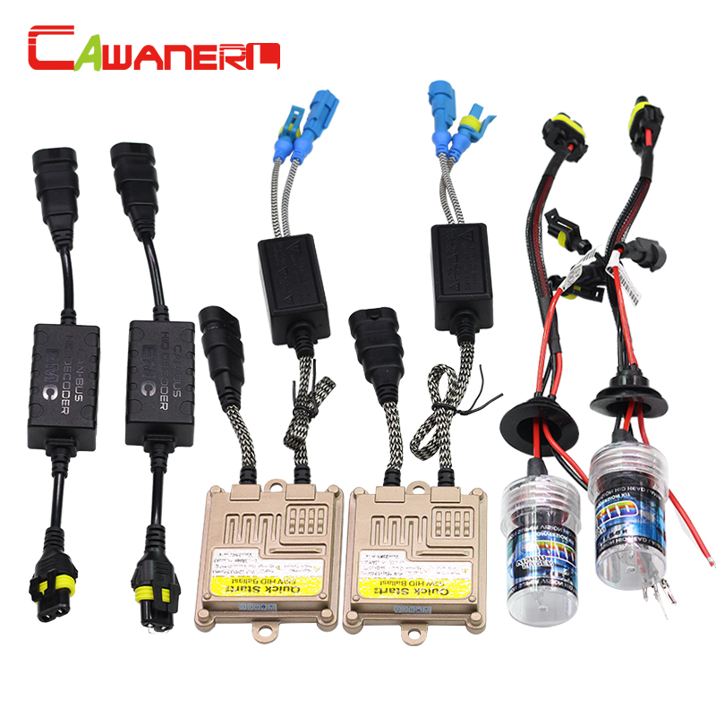 Cawanerl H1 H3 H7 H8 H9 H11 9005 9006 55W Canbus HID Xenon Kit 3000K Bulb AC Ballast Decoder Anti Flicker Car Light Headlight buildreamen2 9006 hb4 55w no error hid xenon kit 3000k 8000k ac ballast bulb canbus decoder anti flicker car headlight fog light