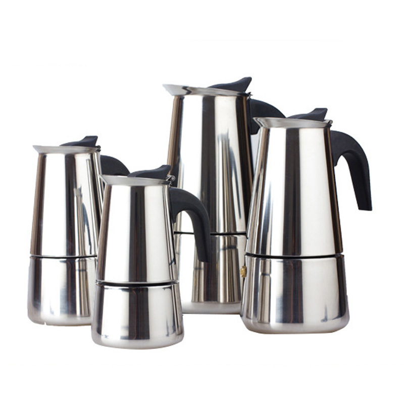 100/200/300/Stainless Steel Coffee Pot Moka Coffee Maker Teapot Mocha Stovetop Tool Filter Percolator Cafetiere