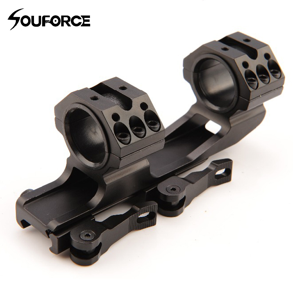 High Quality Scope Mount Dute Diameter 24.5/30mm QD Mount Adapter With 4 Slots Ring Base Fit Weaver Rail Mount For Rifle Hunting