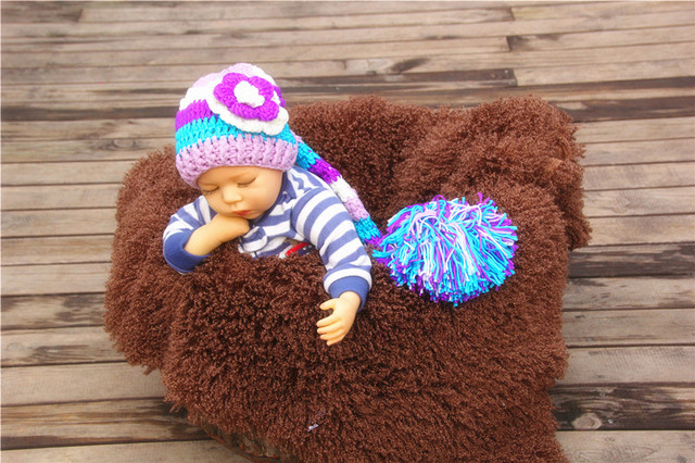 e3ec535ef US $7.29 19% OFF|free shipping, new handmade crochet newborn LONG TAIL ELF  PIXIE hat , baby Stocking Hat newborn PHOTO PROP size:0 1m,3 4m-in Hats &  ...