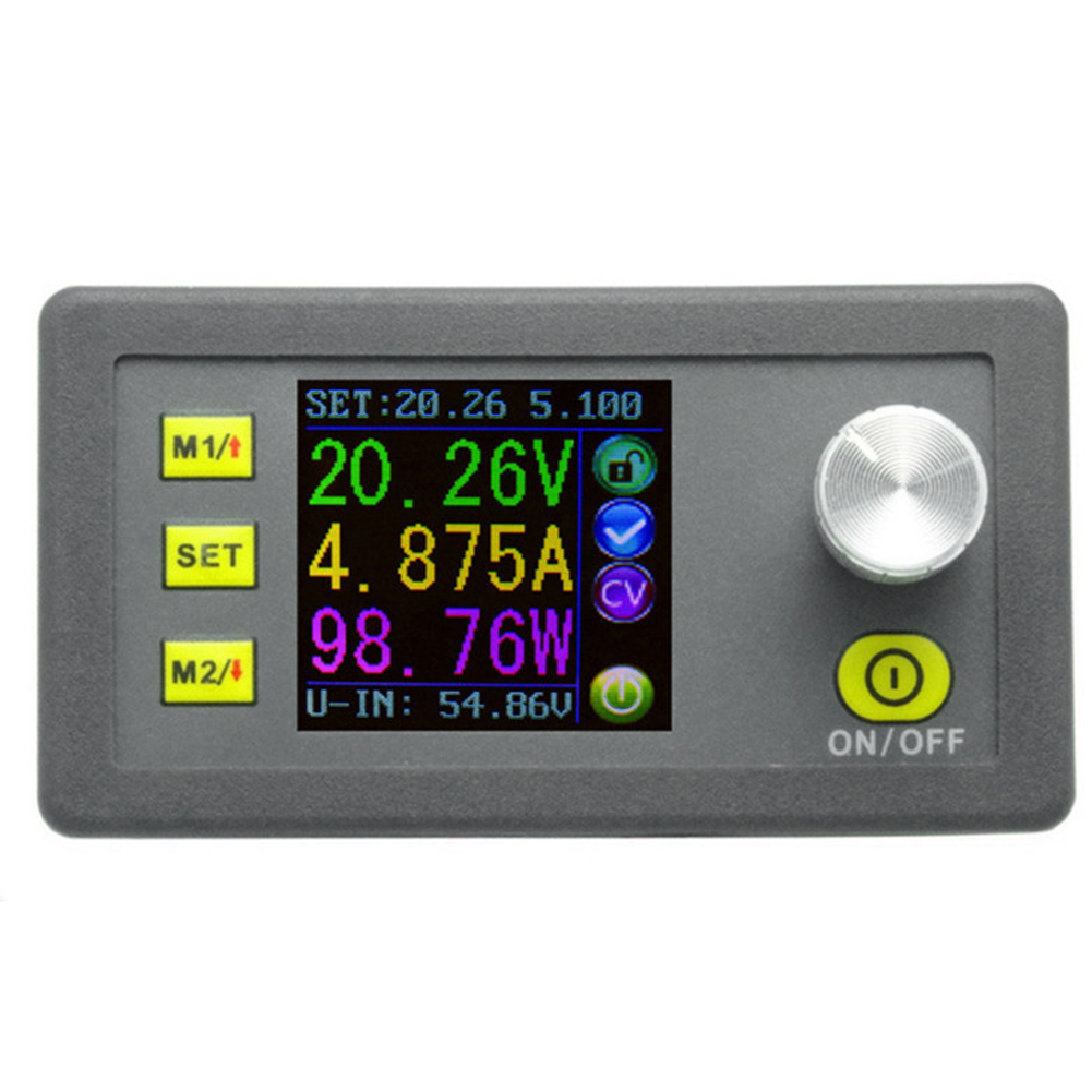 все цены на  Digital Constant Voltage Current Step-down Programmable Power Supply Module Buck Voltage Converter Color LCD Voltmeter 50V 5A  онлайн