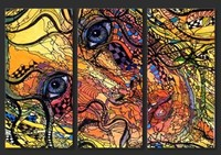 100 Handpainted Canvas Abstract Oil Painting Beauty Face Portrait 3 Panel Wall Art Large Pictures Cheap