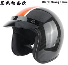 Мотоциклетный Шлем Углеродного Волокна Шлемы Летающие Ретро Шлем