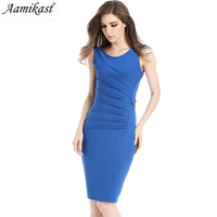 Aamikast Womens Celebrity Elegant Vintage Ruched Pinup Wear To Work Office Business Casual Party Fitted Bodycon Pencil Dress 660