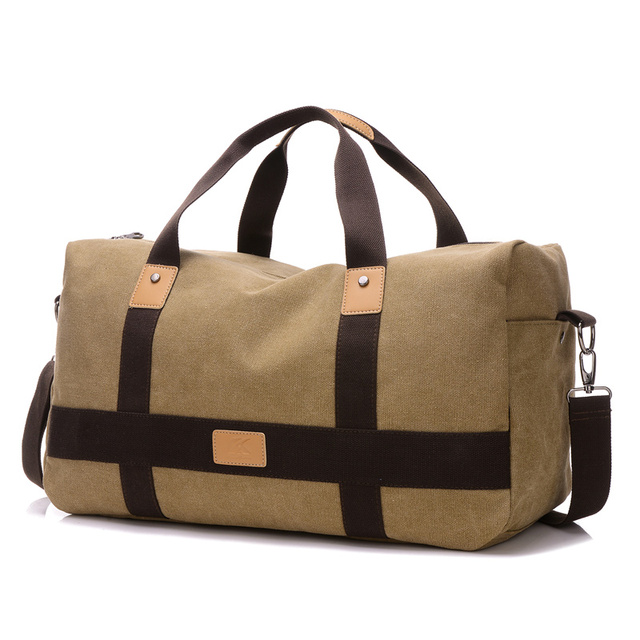 Fabra New Men Vintage Canvas Bag Patchwork Soft Man Travel Totes Bags School Bag Quality American Style Patchwork Duffel Bag