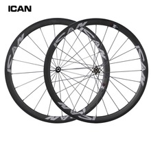 2015 New chinese carbon wheels 38mm clincher 23mm width road bike wheelset novatec hubs with Sapim spokes SP-38C