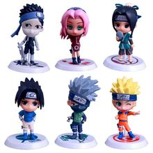 6pcs/lot 7cm 18 generations of 6 Naruto dolls car ornaments hand-made anime around the toy hand doll