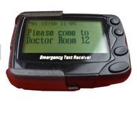 POCSAG Programm Multifunktions Wireless Beeper 4 oder 8 linien Alpha numerische Pager Notfall Text Empfänger  Niedrigen Batterie Alarm auf