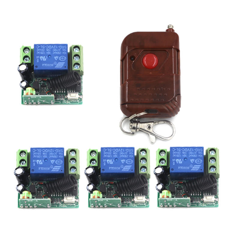 200M Learning Code DC 12V 1CH RF Remote Control Switch System Wireless Receiver&Transmitter 433Mhz/315Mhz 1 Relay Receiver 4033 аксель круглый v sport kf405