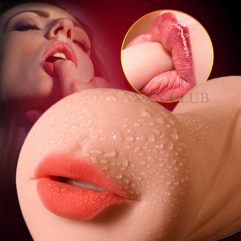 Realistic Oral 3D Deep Throat with Tongue Teeth Artificial Vagina anal Male Masturbators Pocket real Pussy Oral Sex Toys for Men
