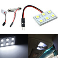 2016 New 12V 6 SMD 5050 LED T10 BA9S Dome Festoon Car Anti Shock Interior Light Panel Lamp Car Turn Signal/License Plate Light