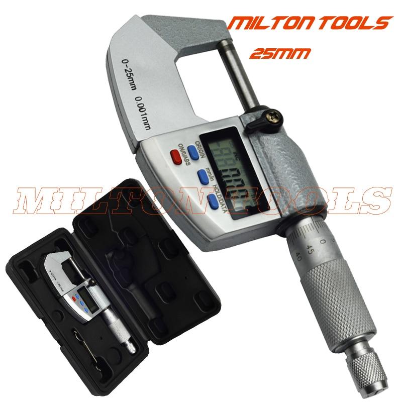 0 25mm 0 001mm IP65 water proof digital micrometer caliper gauge 0 001mm Measuring thickness gauge