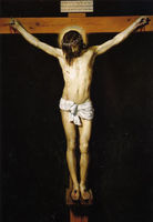 100%Handmade Art Oil painting Diego Velazquez Christ Jesus Crucified on cross canvas 36