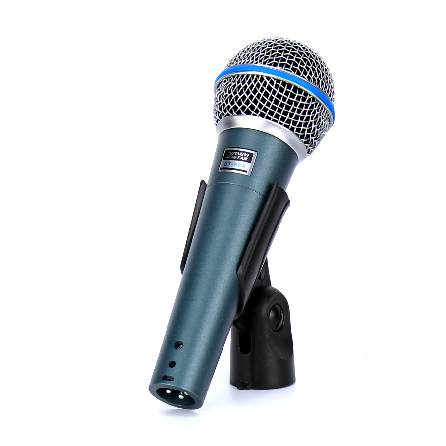 BT-58A Professional Handheld Mic Cardioid Vocal Dynamic Wired Microphone For BETA 58A Studio KTV Mixer Karaoke System Mikrofon