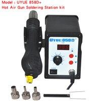 700W Hot Air Gun 858D ESD Soldering Station LED Digital Desoldering Station Iron Tool Solder Welding