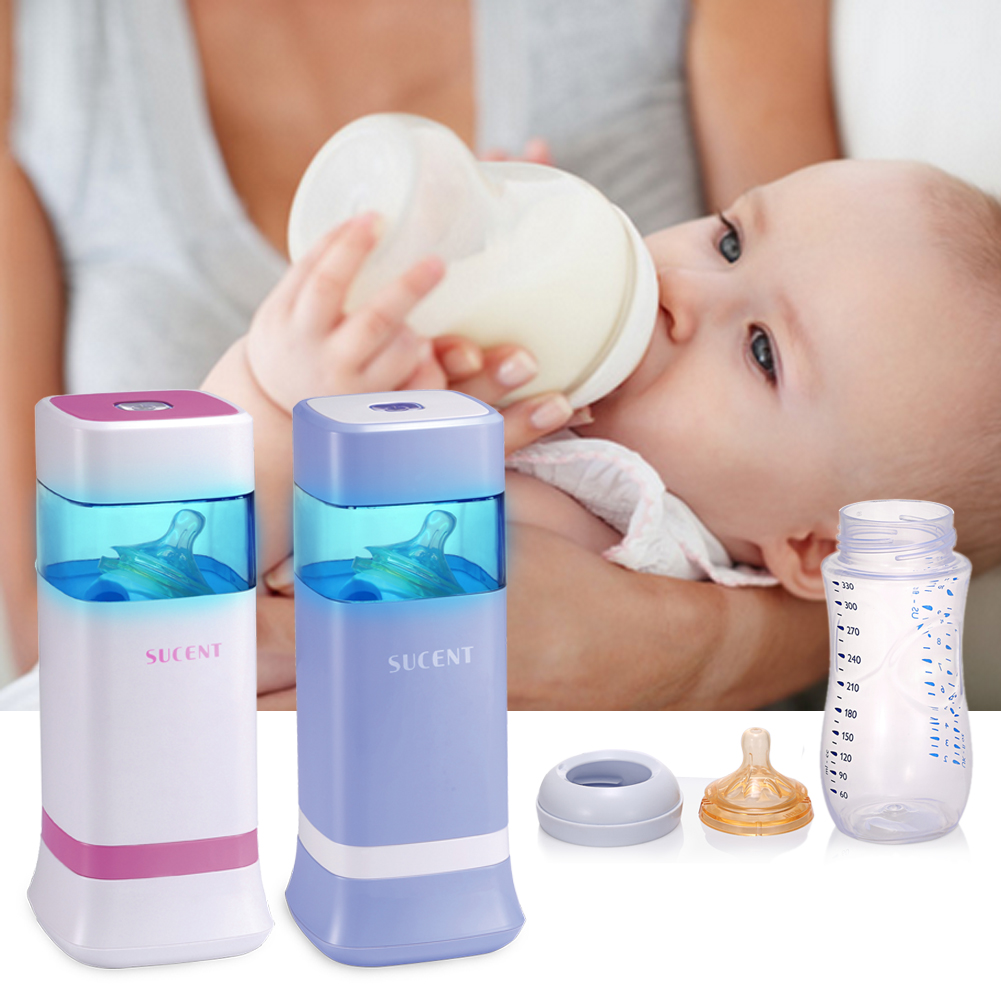 1 Pc Portable Milk Bottle Sterilizer Baby Pacifier Ultraviolet Sterilizing Tool Baby Milk Water Feeding Bottles Color Blue Pink