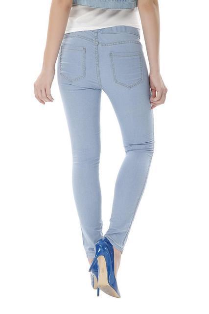 Women Plus Size Summer High Waist Skinny Pencil Pants 32-40 Modern Elegant Stretch Denim Jeans