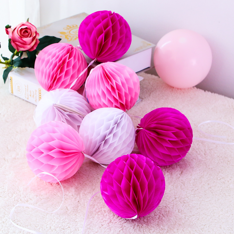 24 Mixed Size White Pink Wedding Paper Lantern Lampshade Birthday Baby Shower Party Garden Home Decoration