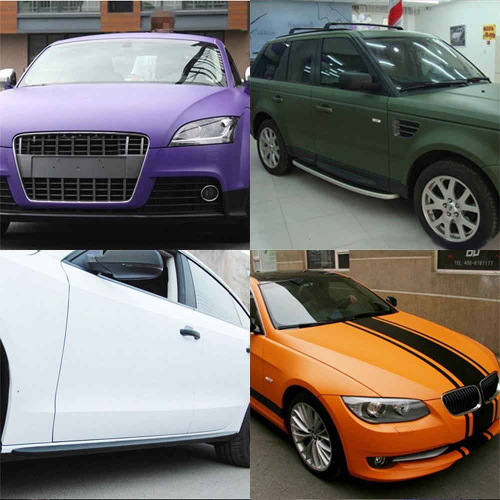 Tricolour 1x 50150cm diy car body film matt sticker auto exterior carbon fiber custom automotive accessories