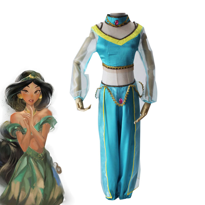 Aladdin and The Magic Lamp Princess Jasmine Cosplay Costume Women and Kids Sexy Dancing Dress Fancy Halloween Carnival Outfits