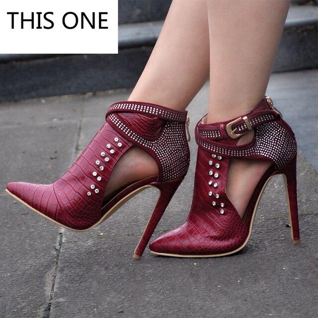 6fab1101 Esta mujeres Zapatos tacón alto Botines Martin Botas zip otoño primavera  punta estrecha Tacones altos señora
