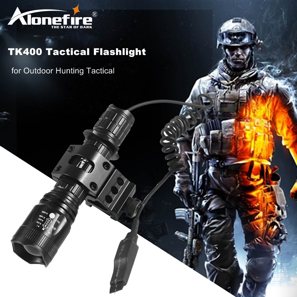 AloneFire TK400 Tactical flashlight CREE LED Torch XM-L2 linternas waterproof Hunting Lights