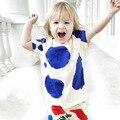 Бобо выбирает детская одежда дети футболка мальчики Grils вершины хлопка малыша одежда унисекс с коротким рукавом тройник о v-образным вырезом рубашки