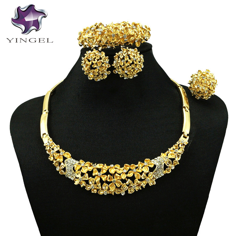 african gold fine jewelry sets big jewelry sets wedding jewelry sets women necklace new design wholesale price jewelry