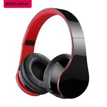 MGHUAKAI Bluetooth Do Telefone Da Música do DJ Fone De Ouvido Com Microfone Ajustável e Dobrável fone de Ouvido fone de Ouvido Bateria