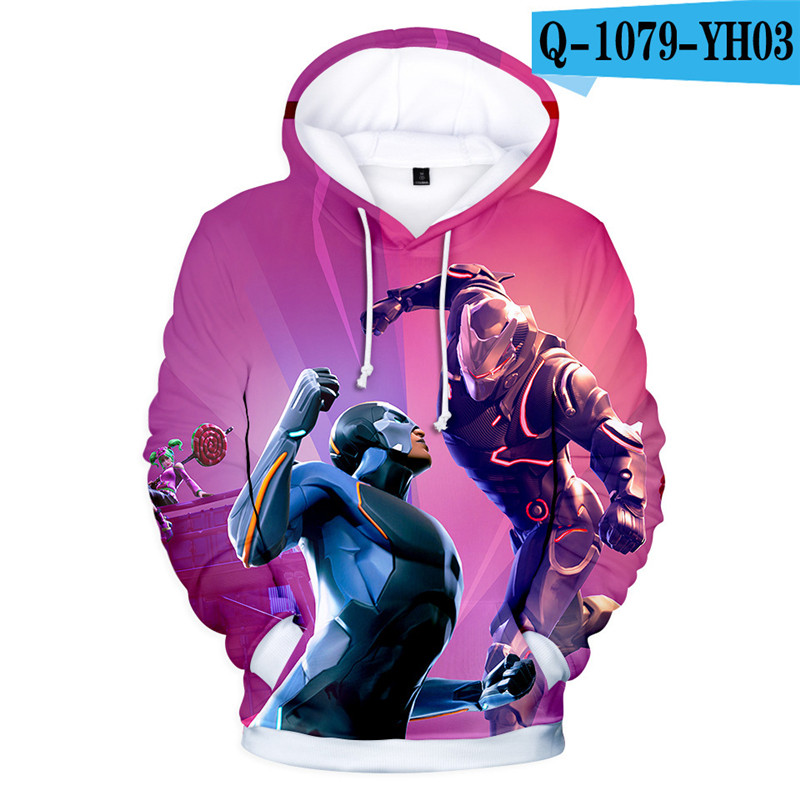 3D Print Hoodie Fortnited Kids Moletons Girls Women Clothes Fornit Game Clothings Children Clothing Fortnight Popular Clothes