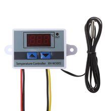 цена на 10A 12V 220V Digital LED Temperature Controller XH-W3001 For Incubator Cooling Heating Switch Thermostat NTC Sensor