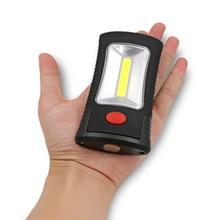 New Arrival 2-Mode COB LED Work Lamp Flashlight Magnetic Folding Hook Flash Light Torch Linternas Lanterna Powered by 3x AAA