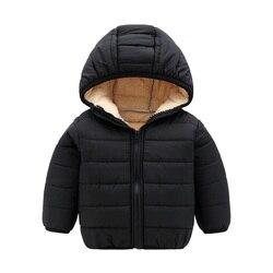 Детские зимние куртки для маленьких девочек; Детская куртка с хлопковой подкладкой для мальчиков; Теплая верхняя одежда; Осенняя повседнев...