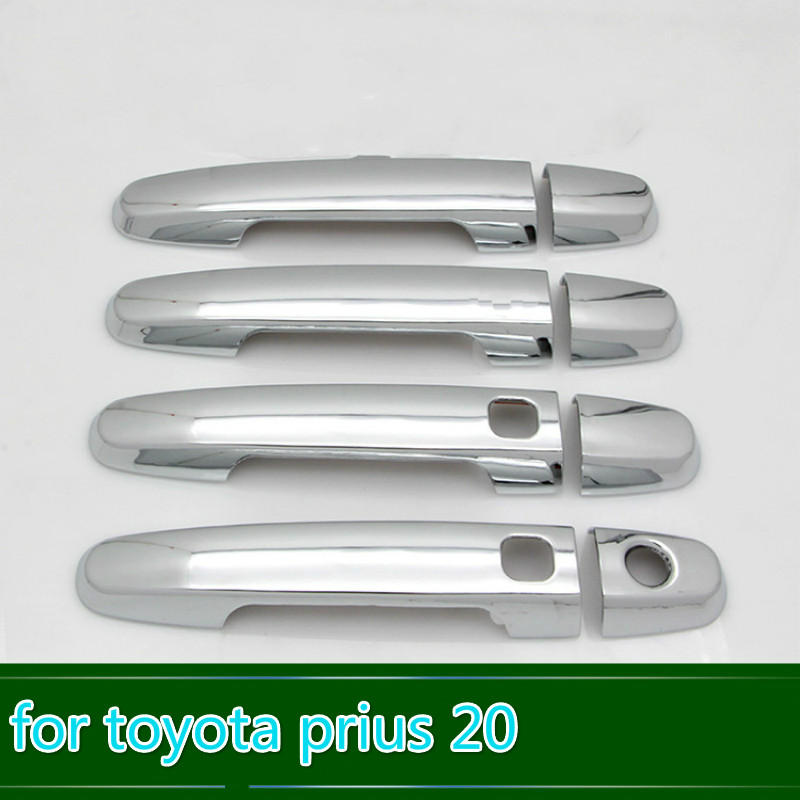 For Toyota <font><b>Prius</b></font> 20 2004 <font><b>2005</b></font> 2006 2007 2008 2009 xw20 New Chrome Car Door Handle Cover Trim Car Styling Car Accessories Overlay image