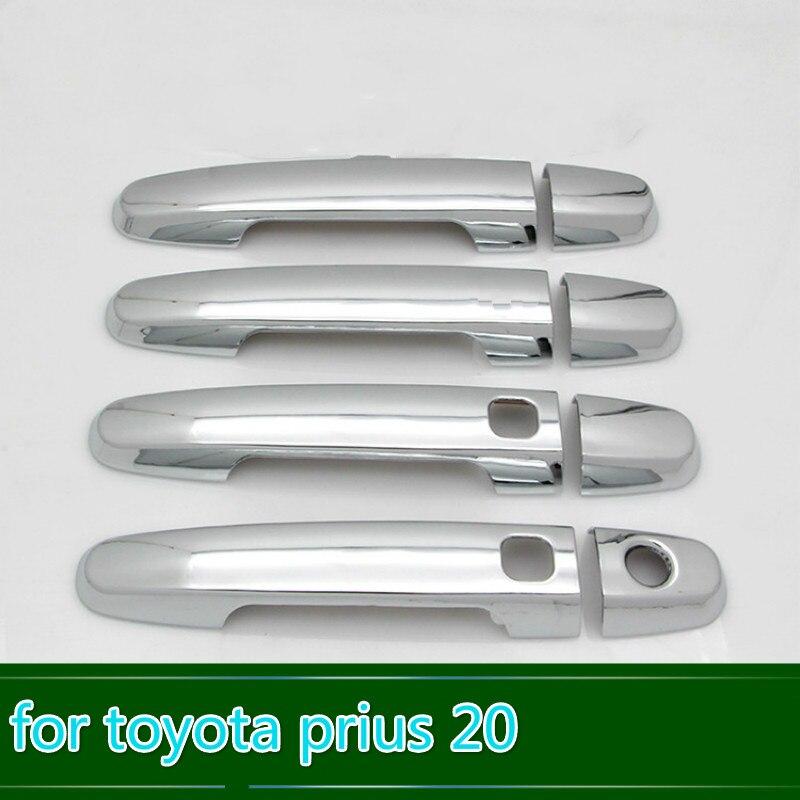 Para toyota prius 20 2004 2005 2006 2007 2008 2009 xw20 novo chrome maçaneta da porta do carro capa guarnição estilo do carro acessórios do carro sobreposição