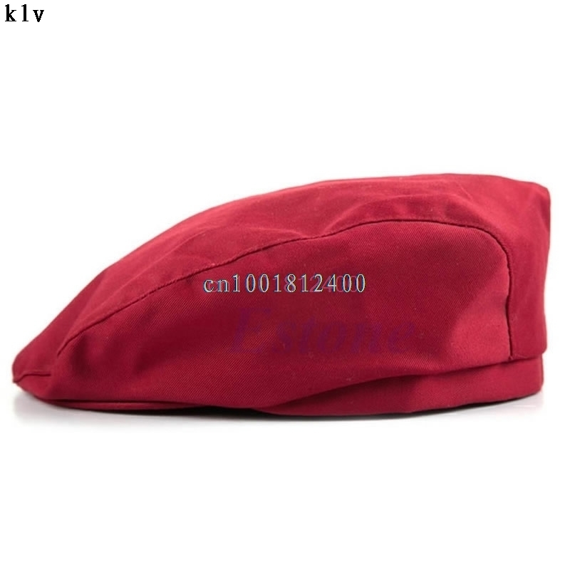 1PC Fashion Men Women Chef Hat Catering Baker Kitchen Cook Duckbill Beret Caps W033 HOT SALE