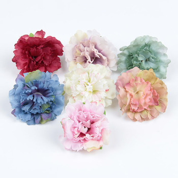 50pcs/lot 2.4 Artificial Peony Flower For Hair Accessories Plastic Flowers For Wedding Party Decor Home Shop Garden Decor 5pcs best seller mist lavender plastic artificial flower plastic fake flower plant home garden decor shop window wedding wall