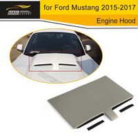 PP Front Bumper Air Heat Extractor Engine Hood Vent Machine Cover Decorative Plate for Ford Mustang 2015 2017 Car Styling