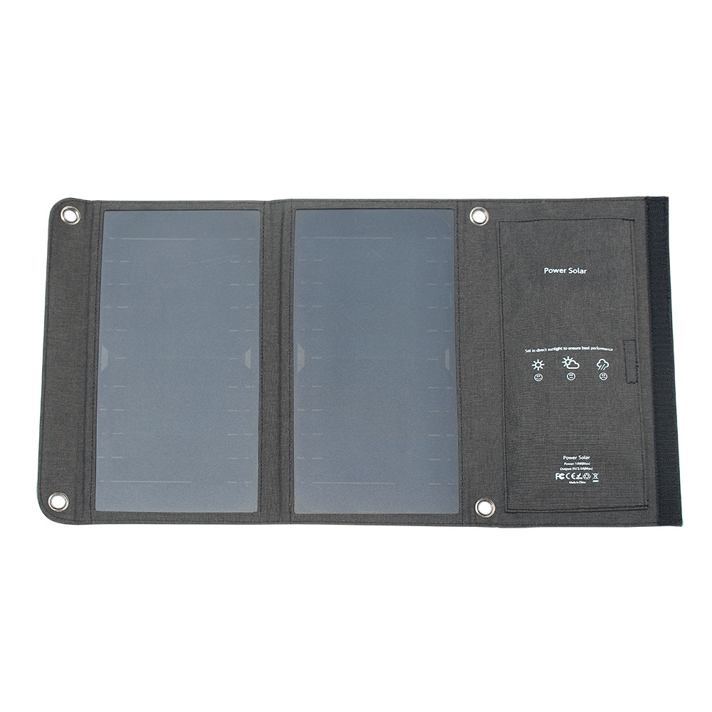 5V 14W Sunpower Solar Panel for Xiaomi Samsung Mobile Phone Dual USB port Portable Solar Charging Solar Battery Charger