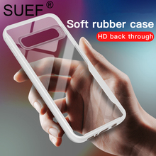SUEF New Arrival Soft TPU Full Protect For Samsung Galaxy S10 Plus Lite Case Transparent Phone Bags Cases Funda Anti-knock Capa
