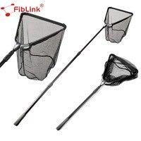 Fiblink 1.5M/2M Folding Fishing Net Aluminum Alloy Retractable Telescoping Pole Fish Network Landing Net Super Large Folding Net