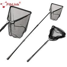 Fiblink 1.5M/2M Folding Fishing Network Aluminum Alloy Retractable Telescoping Pole Landing Net Super Large Folding Net