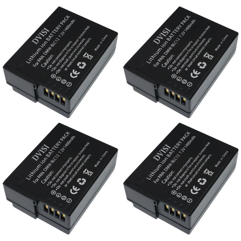 4x DMW-BLC12 DMW BLC12PP BLC12E BLC12 BP DC12 DC12U BP-DC12 Battery for Panasonic DMC GH2 G5 G6 G7 V-LUX4 DMC-GH2 FZ200 FZ1000