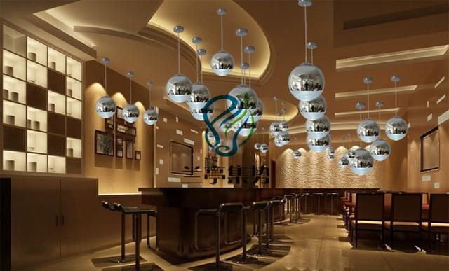 Distribution Supply plating spherical glass ball chandelier l& bar restaurant stair lighting fixtures & Distribution Supply plating spherical glass ball chandelier lamp bar ...