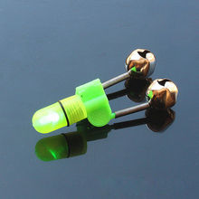 10Sets Fishing Alarm With Bulb LED Night Fishing Bell Float Twin Bell Ring Fishing Tackle Accessories